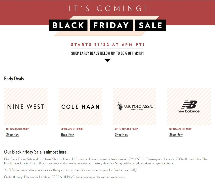 37ccc10d27b 6PM Black Friday 2019 Ad, Deals and Sales