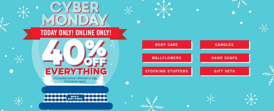 Bath and Body Works Cyber Monday Sale