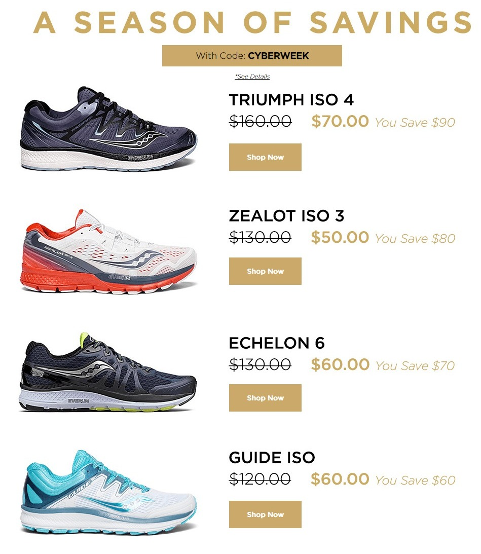 Saucony Cyber Monday Sale